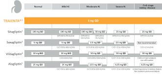 Gfr Rate Chart Dpp4i Dosing Chart Trajenta Linagliptin