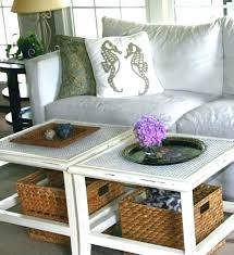 coffee table with basket storage storage baskets under coffee table living room large basket wicker beach
