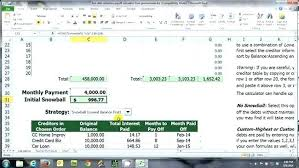 Credit Card Interest Worksheet Debt Spreadsheet