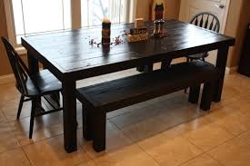 Primitive Kitchen Furniture Beautiful Primitive Black 7 Ft Solid Wood Kitchen Dining Room