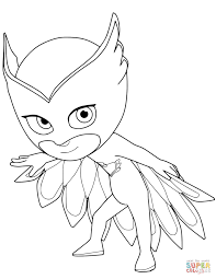 Coloring Pages Pj Masks Coloring Pages Pdf Incredible Owlette From