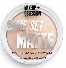 <b>MakeUp Obsession Компактная пудра</b> Game Set Matte (3 оттенка ...