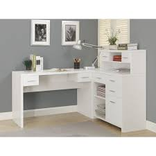 Office corner desk White Gloss Monarch Hollowcore Left Or Right Facing Corner Desk White Walmartcom Walmartcom Monarch Hollowcore Left Or Right Facing Corner Desk White