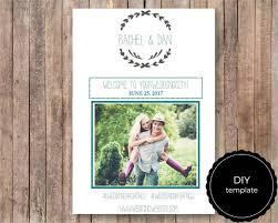 free printable diy wedding weekend itinerary