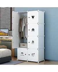 sturdy hanging closet organizer. Modren Closet KOUSI Portable Closet Clothes Wardrobe Bedroom Armoire Storage Organizer  With Doors Capacious U0026 Sturdy For Sturdy Hanging