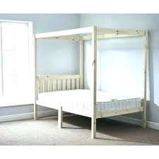 Wood Twin Canopy Bed Frame – Jalerson