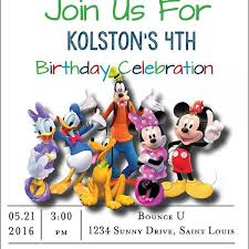 mickey mouse party invitation customized mickey mouse birthday party invitation