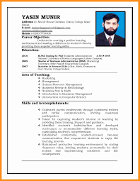 4 Biodata Format For Teacher Scholarship Letter
