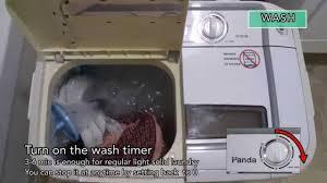 panda compact portable washing machine demo