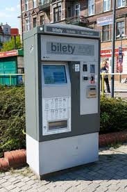 Ticket Vending Machines Magnificent POZNAN POLAND AUGUST 48 4815 Public Transport Ticket Vending