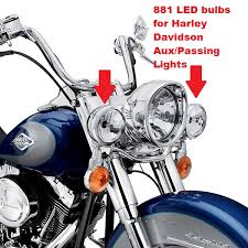 881 Super Bright Led Bulbs For Harley Davidson Auxiliary Lights