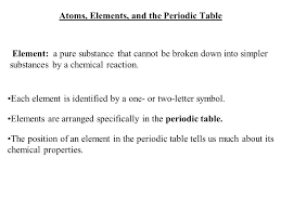 Atoms, Elements, and the Periodic Table - ppt download