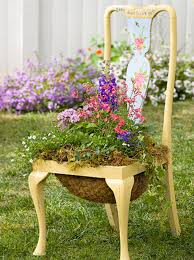 Terrace and Garden: Garden Chair Planters Decorating Ideas - Closet