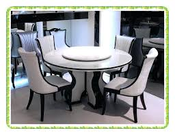 round marble dining table perfect design style rotary white kitchen with lazy susan