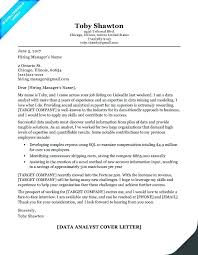 Analyst Cover Letter Business Analyst Cover Letter Junior Business