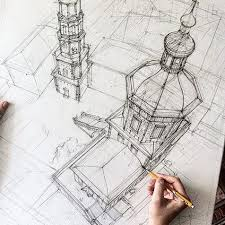 architectural buildings sketches. Wonderful Buildings VOTRE ART Architectural Drawing By Adelina Gareeva In Buildings Sketches