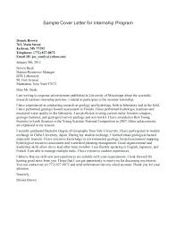 Sample Cover Letter For College Student Letter Resume Source