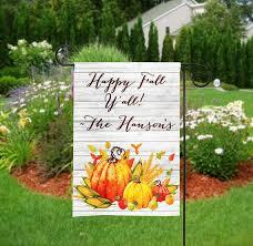 personalized fall garden flag autumn