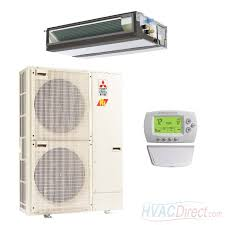 mitsubishi ducted heat pump. Exellent Mitsubishi Mitsubishi 36000 BTU 168 SEER Single Zone Heat Pump System   Concealed Duct In Ducted