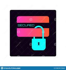 Bank Security Design Security Credit Card Simple Isolated Vector Icon Pay Lock
