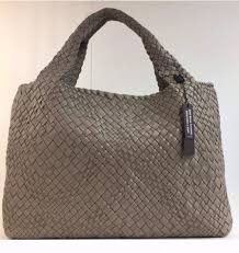 details about falor firenze woven leather f7349 made in italy large tote shoulder bag new tan
