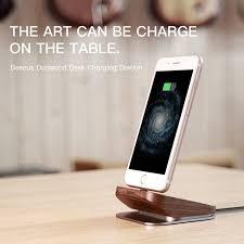 baseus duowood desk charging station holder for apple iphone 7 7 plus lightning dock stand for