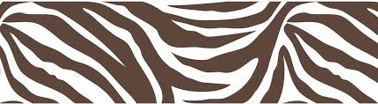 Awesome Brown And White Zebra Print Wall Pop Wall Border
