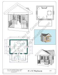 free playhouse plans blueprints construction drawings pdf sds plans