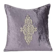 Gray Velvet Pillow Covers