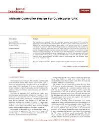 Quadcopter Design Theory Pdf Altitude Controller Design For Quadcopter Uav