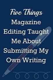 Submitting writing to magazines
