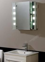 Bathroom mirror cabinets light