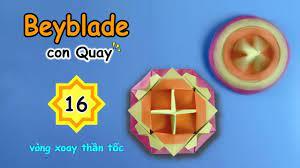 Beyblade ? Cách gấp con Quay bằng giấy ? origami spinning Top ? vòng  xoáy thần tốc ? con Quay V16 - YouTube