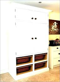 shallow broom closet kitchen storage cabinets cabinet wood tall office depot hours anchorage cabine broom closet