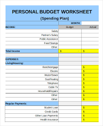 Free Family Budgeting Worksheets Family Budget Template 9 Free Sample Example Format Free