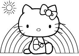 Cat Coloring Pages Online Free Printable Hello Kitty Sheets To Print