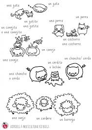 Animal Printables in Spanish pg 3 multilingual animal and babies printables on pg printables