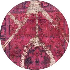 round persian rugs marvelous pink 6 7 x ultra vintage rug interior design 4