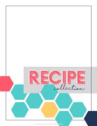 recipes binder cover.  Binder Recipe Collection Binder Printable Kit Inside Recipes Cover R