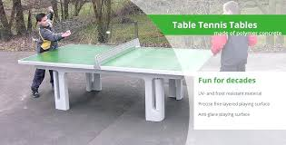 concrete ping pong tables outdoor table tennis tables made of polymer concrete diy outdoor concrete ping