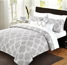 max studio geometric quatrefoil trellis pattern king 6pc cotton comforter set maxstudiohome modern