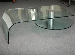 italian rotating shelf glass waterfall coffee table fantastic design excellent original furniture circular clearly stunning curved