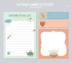 Daily Calander Cute Daily Calendar And To Do List Template Note Paper And Stickers