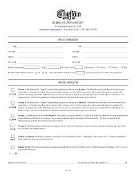 Event Vendor Contract Template Wedding Planner Contract Template Httpyesidomariage 21