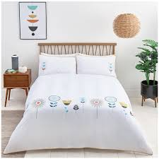 close image for sainsbury s home newstalgia flower embroidered bed linen from sainsbury s