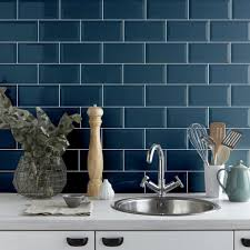 Kitchen Wall Tiles Uk Crown Tiles Metro Atlantis Blue Wall Tile From Crown Tiles