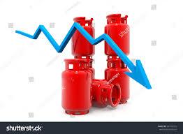 Falling Lpg Gas Price Chart3d Render Stock Illustration