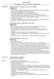 Applications Product Manager Resume Samples Velvet Jobs