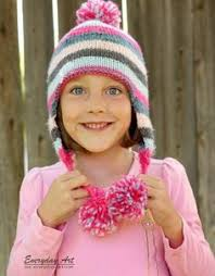 Child Knit Hat Pattern Amazing Ravelry Free Pattern For Child's Earflap Hat On The Midgauge