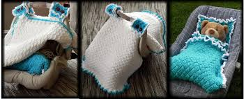 matching car seat blanket and canopy crochet patterns